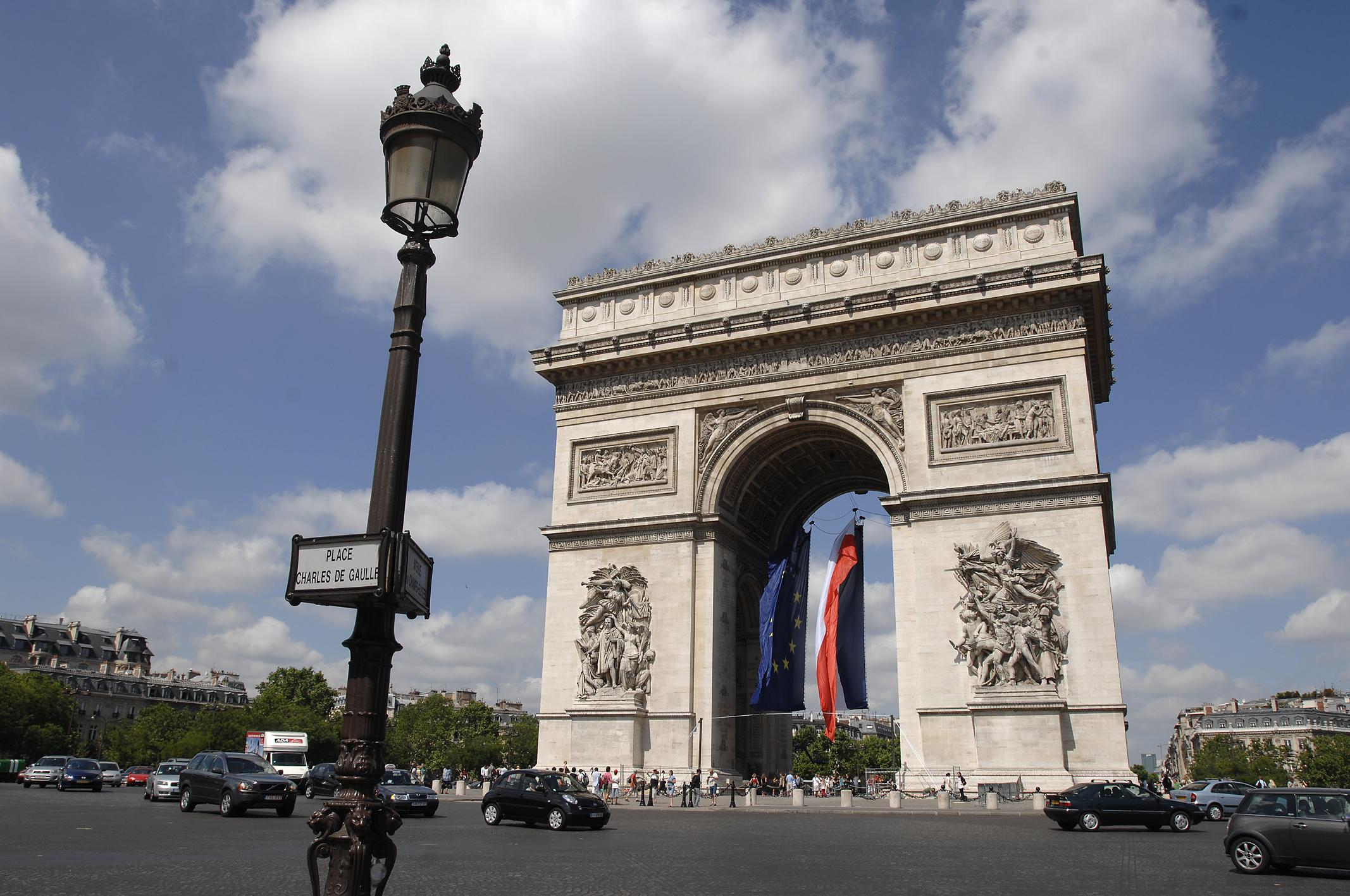 O Arco do Triunfo - Paris