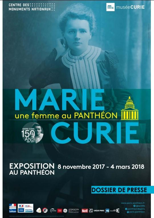 Exposição Marie Curie uma mulher no Panteão
